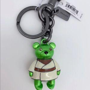 Star Wars X Coach Yoda Bear Bag Charm